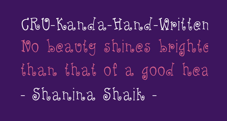 CRU-Kanda-Hand-Written