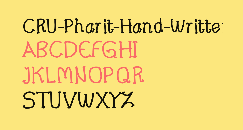CRU-Pharit-Hand-Written v2 Bold