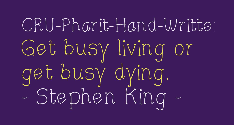 CRU-Pharit-Hand-Written v2 Regular