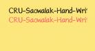CRU-Saowalak-Hand-Written-Bold