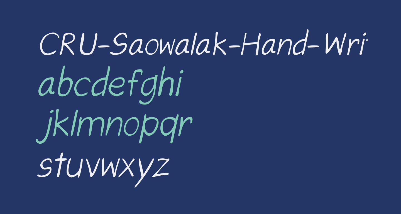 CRU-Saowalak-Hand-Written-Italic