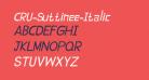 CRU-Suttinee-Italic