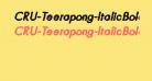 CRU-Teerapong-ItalicBold