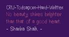 CRU-Todsaporn-Hand-Written-Bold