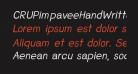 CRUPimpaveeHandWritten2Italic