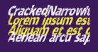 CrackedNarrowItalic