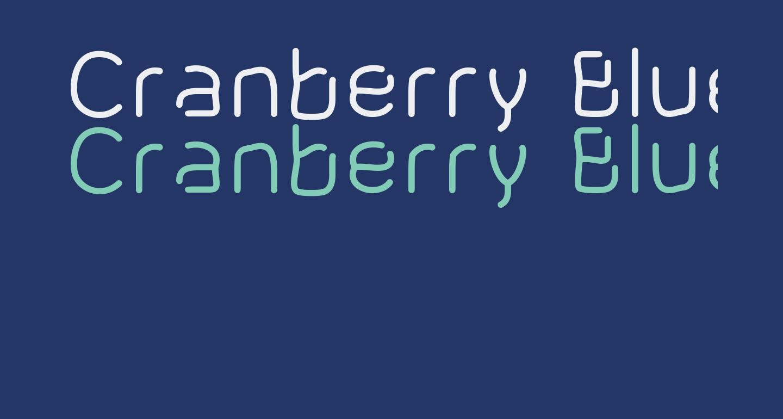 Cranberry Blues