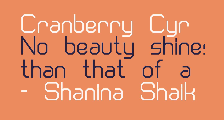 Cranberry Cyr