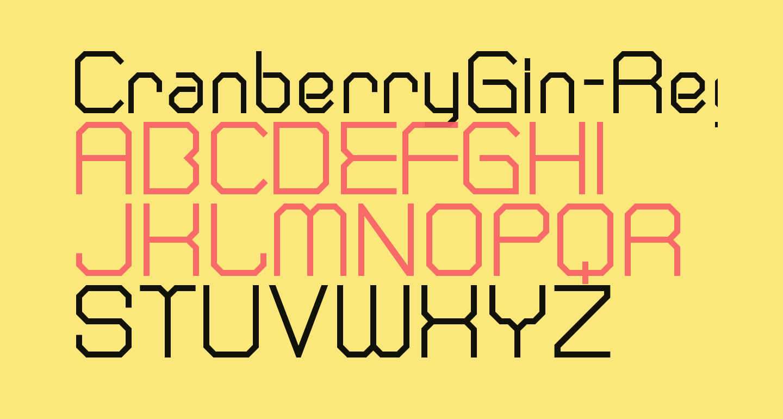CranberryGin-Regular