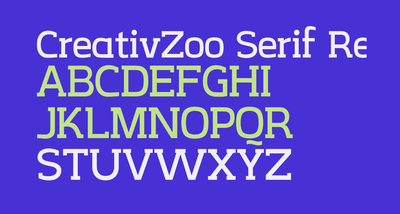 CreativZoo Serif Regular