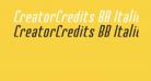 CreatorCredits BB Italic