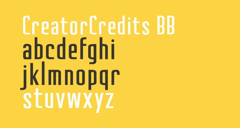 CreatorCredits BB