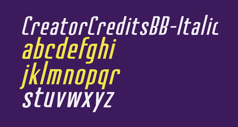 CreatorCreditsBB-Italic