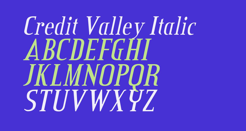 Credit Valley Italic