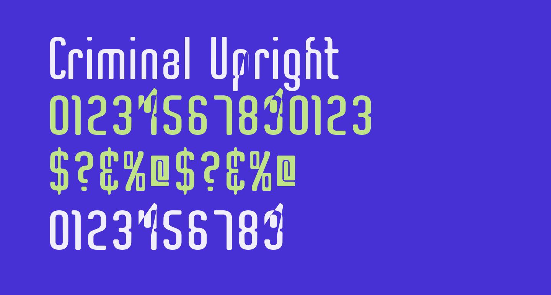 Criminal Upright