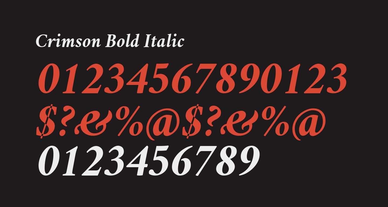 Crimson Bold Italic