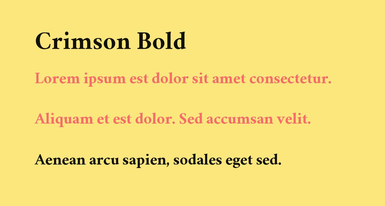 Crimson Bold