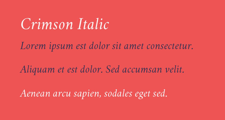 Crimson Italic
