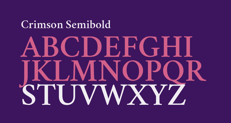 Crimson Semibold