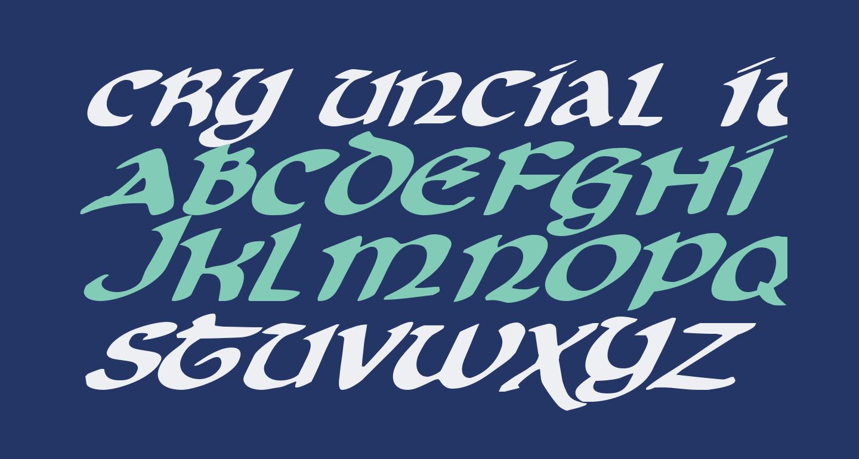 Cry Uncial Italic