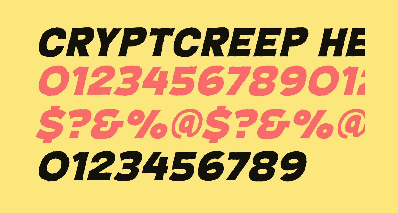 CryptCreep Heavy BB Italic