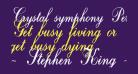 Crystal symphony Personal use Regular