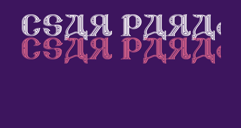 CSAR PARADE DRESS [Display Caps]