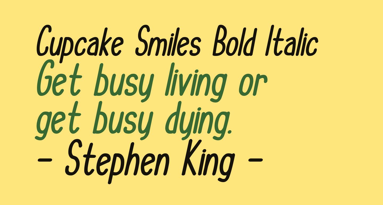Cupcake Smiles Bold Italic