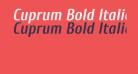 Cuprum Bold Italic
