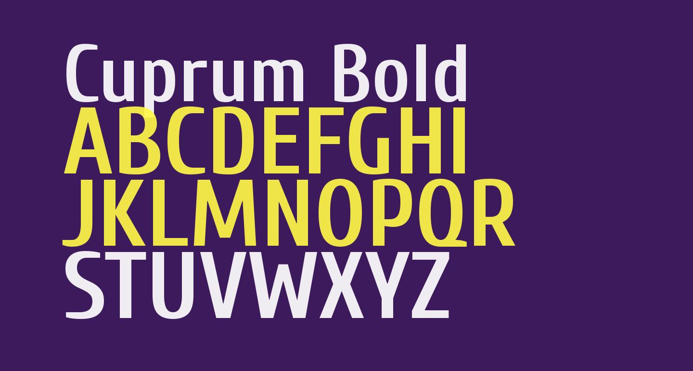 Cuprum Bold