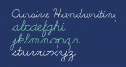 Cursive Handwriting Tryout