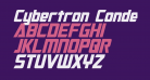 Cybertron Condensed Italic