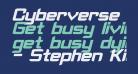 Cyberverse Bold Italic