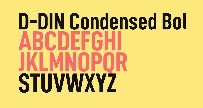 Kết quả hình ảnh cho DIN CONDENSED BOLD