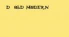 D_OLD MODERN