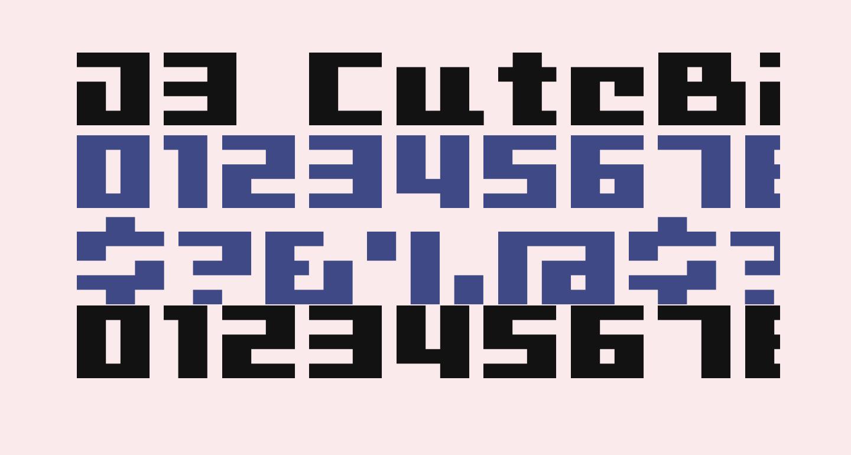 D3 CuteBitMapism TypeA