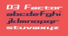 D3 Factorism Italic