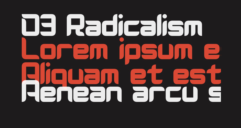 D3 Radicalism