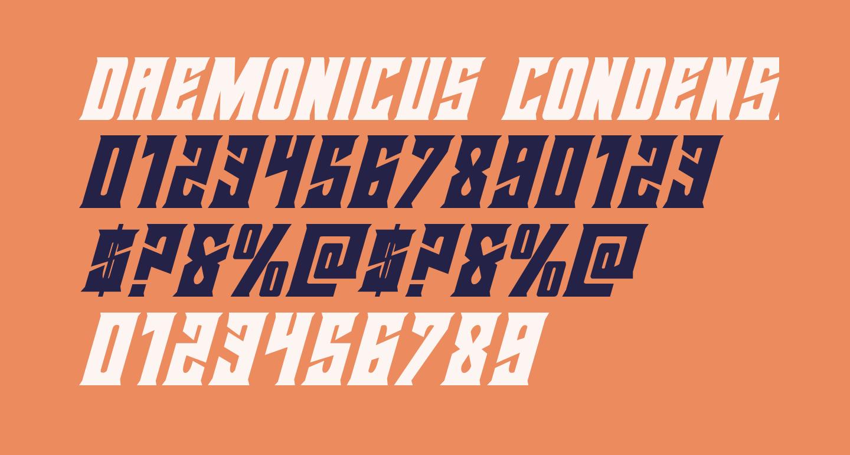 Daemonicus Condensed Italic
