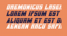 Daemonicus Laser Italic