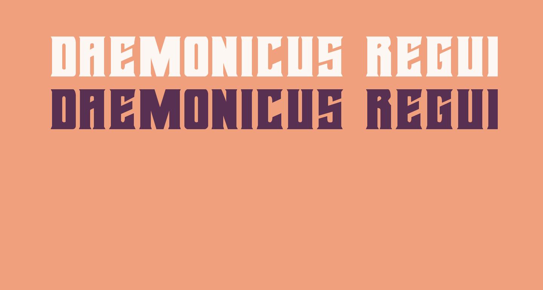 Daemonicus Regular