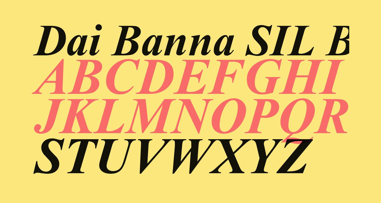 Dai Banna SIL Book Bold Italic