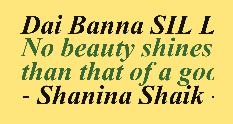 Dai Banna SIL Light Bold Italic