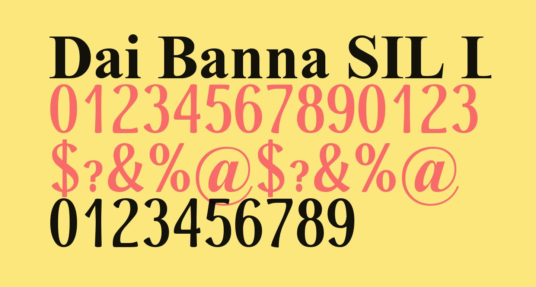 Dai Banna SIL Light Bold