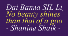 Dai Banna SIL Light Italic