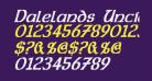Dalelands Uncial Condensed Bold Italic