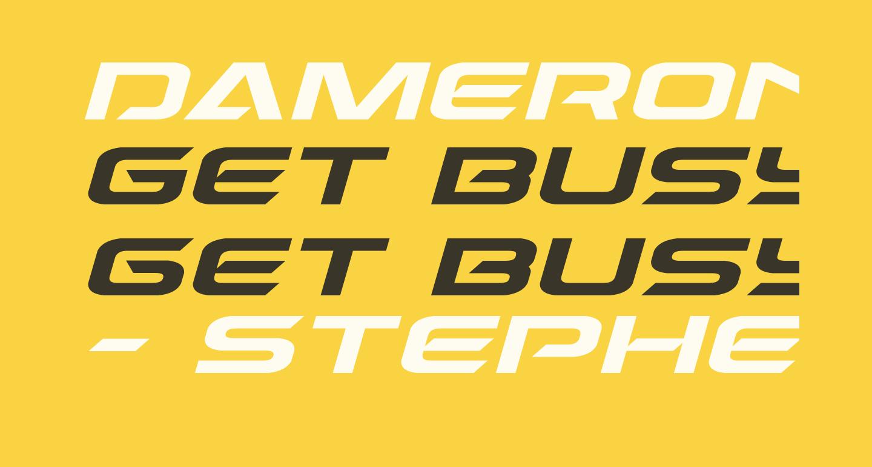 Dameron Expanded Italic