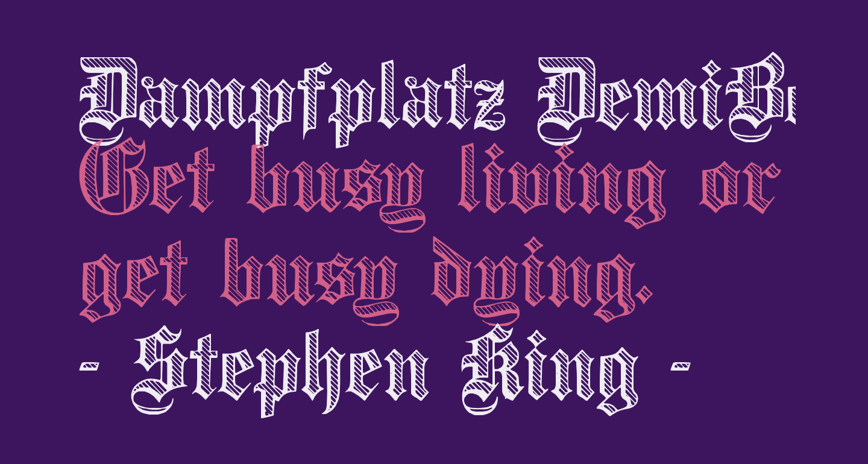 Dampfplatz DemiBold