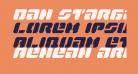 Dan Stargate Condensed Italic