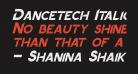 Dancetech Italic